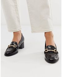 ASOS Stirrup Mid-heeled Loafers - Black