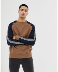 New Look Raglan Sweatshirt In Mink - Pink