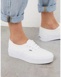 Vans Authentic – e Sneaker mit Plateausohle - Weiß
