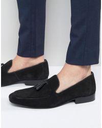 Red Tape - Tassel Loafers In Black Suede - Black - Lyst