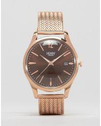 Henry London - Harrow Mesh Watch In Gold - Lyst