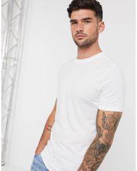 New Look T-shirt attillata bianca - Bianco