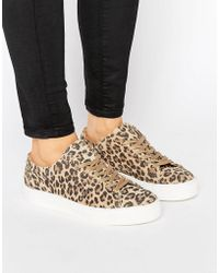 SELECTED - Femme Donna Leopard Sneaker - Lyst