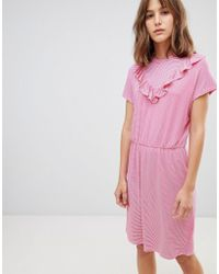Ichi - V Panel High Neck Dress - Lyst