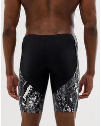 Nike Jammer - Schwarze Badeshorts mit Farbspritzern, NESS9002-001