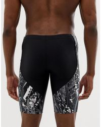 Nike - Swimming - Zwemshort In Zwart Met Print Ness 9002=001 - Lyst