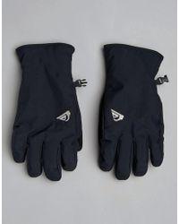 Quiksilver - Cross Ski Gloves In Black - Lyst