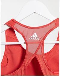adidas Originals - Красный Спортивный Бюстгальтер Со Средней Степенью Поддержки Adidas Training - Lyst