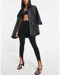 ASOS Jersey Glam Suit Super Skinny Stirrup Trouser - Black