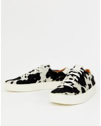 Polo Ralph Lauren - Lace Up Trainer In Animal Print - Lyst