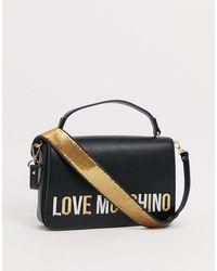 Love Moschino Crossbodytas Met Logo - Zwart