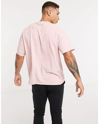 TOPMAN T-shirt avec imprimé London - Rose