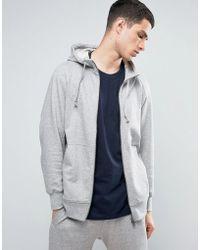 adidas Originals - X By O Zip-up Hoodie In Grey Bq3090 - Lyst