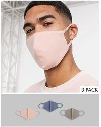 ASOS Pack de 3 mascarillas - Multicolor