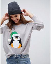 Brave Soul - Penguin Christmas Sweater - Lyst