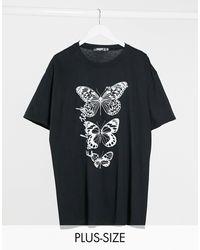 Missguided T-shirt imprimé graphique - Noir