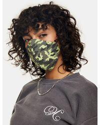 TOPSHOP Masque en tissu tendance à imprimé camouflage - Vert