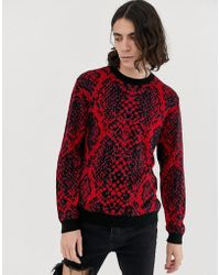 ASOS - Sweater With Neon Snake Pattern - Lyst