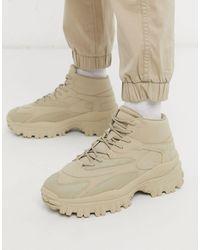 Bershka Sneakers alte stile escursionismo beige - Neutro