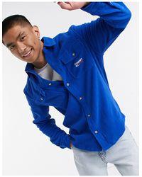 Tommy Hilfiger Синяя Флисовая Рубашка -синий