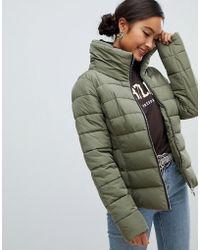 Miss Selfridge - Padded Jacket In Khaki - Lyst