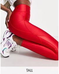 Flounce London Красные Спортивные Леггинсы С Моделирующим Эффектом -красный