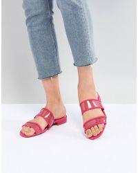 Bershka - Mesh Strap Flat Sandals - Lyst
