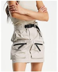 Carhartt WIP Mini Utility Skirt With Buckle Detail - Natural