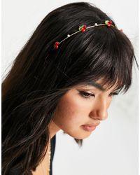 ASOS Metalen Haarband Met Kersjes - Metallic
