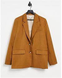 TOPSHOP Oversized Blazer - Brown