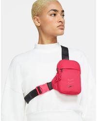 Nike Розовая Сумка Через Плечо С Названием Бренда На Ремешках -розовый Цвет