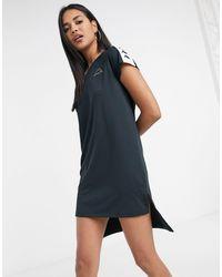 Kappa Dip Hem Dress - Black