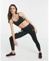adidas Originals Adidas Running 3 Stripe leggings - Black