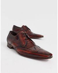 Jeffery West - Коричневые Кожаные Туфли С Крокодиловым Рисунком Escobar-коричневый - Lyst