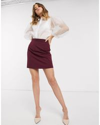 ASOS Tailored A-line Mini Skirt - Purple
