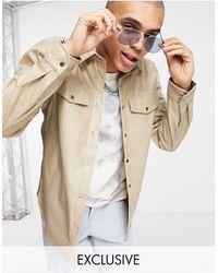 Reclaimed (vintage) Светло-бежевая Рубашка Из Искусственной Кожи Inspired-светло-бежевый - Естественный