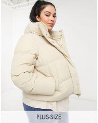 Simply Be Padded Coat - Natural
