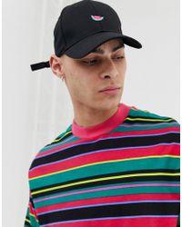 fa630d208fb Lyst - ASOS Stussy Classic Twotone Snapback Cap in Black for Men