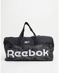 Reebok Сумка-дафл С Ручками И Камуфляжным Принтом Training-серый