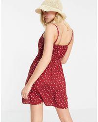 Hollister Floral Cami Dress - Red