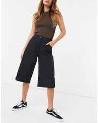 Weekday Rue Organic Cotton Blend Longline Shorts - Black