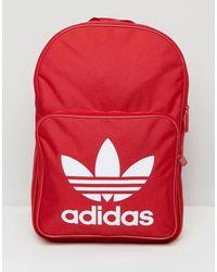 adidas Originals Красный Рюкзак С Логотипом-трилистником Dq3157