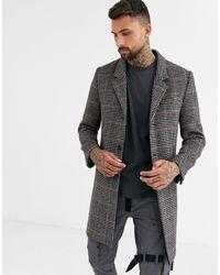 TOPMAN Overcoat - Brown