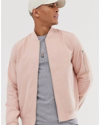 ASOS Ma1 Bomber Jacket In Pink