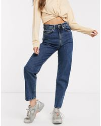 Weekday Lash Organic Cotton Super High-waist Mom Jeans - Black