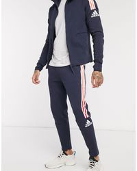 adidas Originals Темно-синие Джоггеры С 3 Полосами Adidas Zne-темно-синий