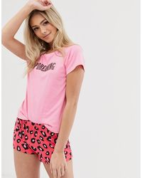 Brave Soul Keep Dreaming - Pyjamaset Met Short - Roze