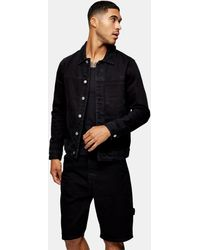 TOPMAN Черная Выбеленная Джинсовая Куртка Considered-черный Цвет