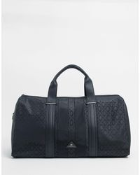 River Island Holdall With Stripe - Black