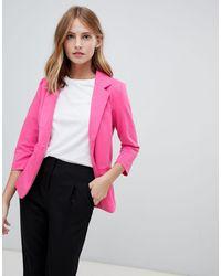 Ichi Трикотажный Блейзер -розовый